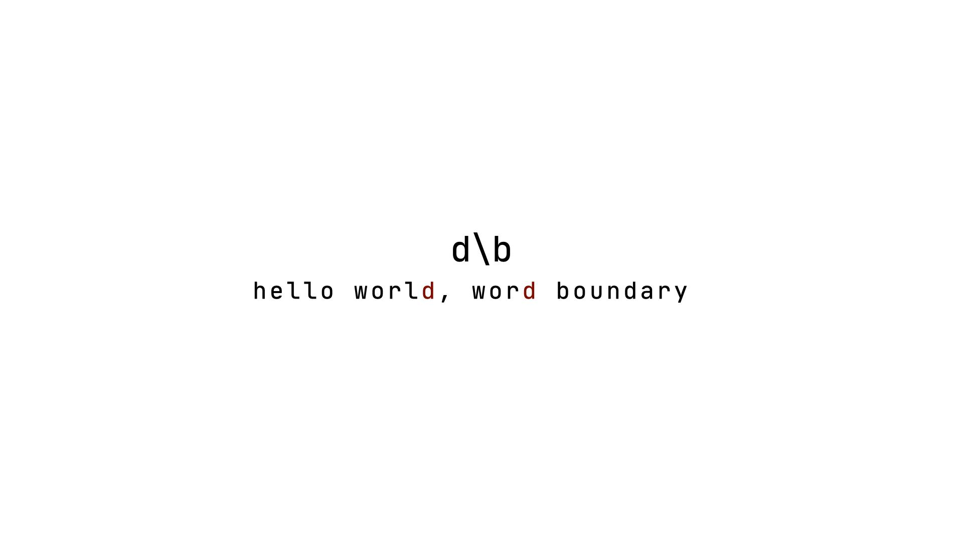 word boundary with character
